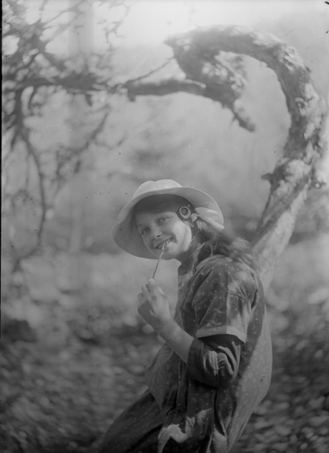 Photograph of Kirkcudbright girl, attributed to E A Hornel, taken between 1900 and 1920