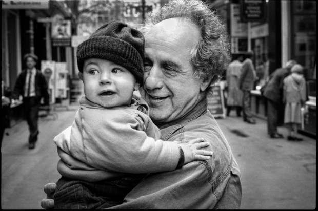 Robert Frank with Liam by Graham MacIndoe