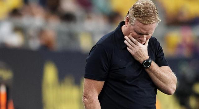 Barcelona coach Koeman given two-match touchline ban