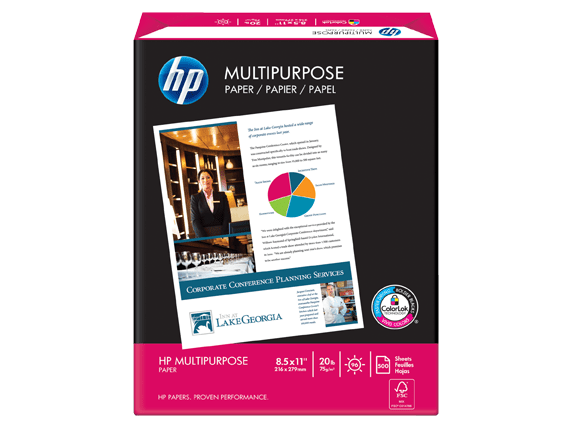 Hp Multipurpose Paper 5 Reams Letter 8 5 X 11 In Hp