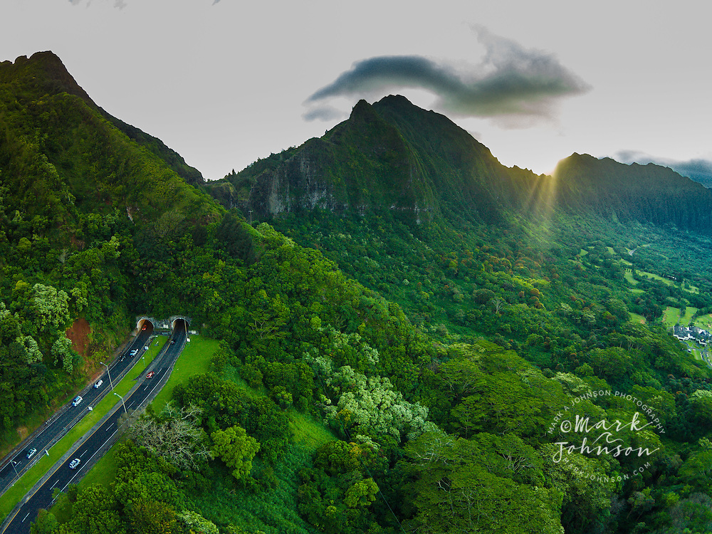 The Pali Highway Oahu Hawaii Mark A Johnson Photographer