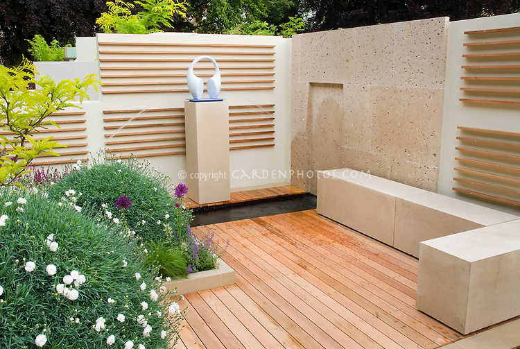 Outdoor room, deck, bench, walls | Plant & Flower Stock ... on Backyard Feature Walls  id=95000