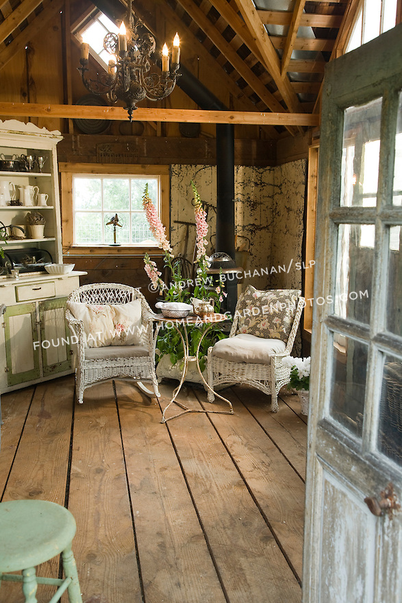 Garden Shed Hideaway Seating Area