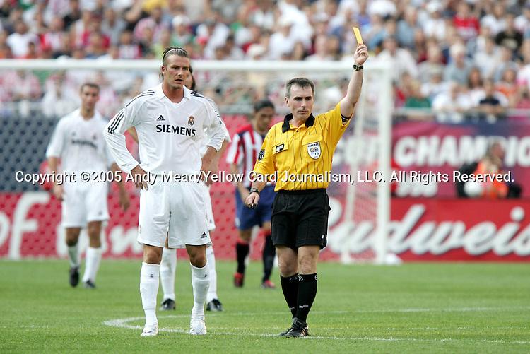 Kết quả hình ảnh cho beckham real madrid yellow card