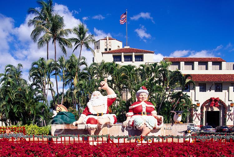 Hawaiian Christmas Shaka Santa Claus Honolulu Hawaii