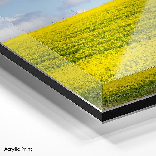 corner view of acrylic print
