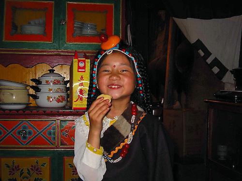 Xiaoqu Tibetan girl expectations of a bright future