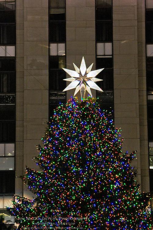 Rockefeller Center Christmas Tree decorations including ...