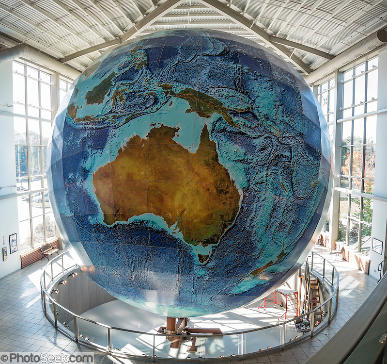 Eartha  World s Largest Globe  DeLorme Headquarters Map Store     See Eartha  World s Largest Globe  41 1 ft in diameter   at DeLorme  Headquarters