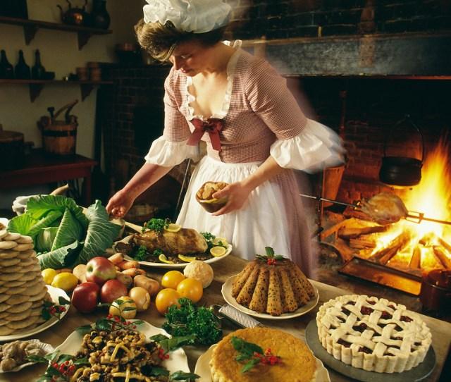 Virginia Colonial Williamsburg Woman Preparing