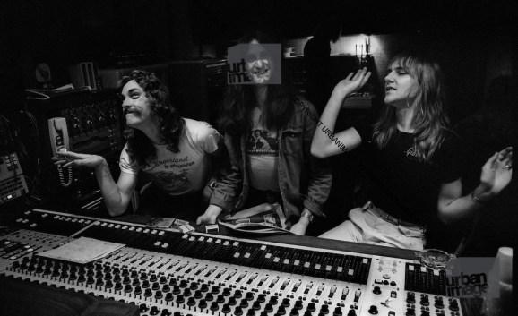 Rush in studio durante la registrazione dell'album