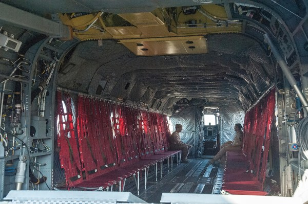 UAE Air Force CH47F Chinook Helicopter Interior Al Ain