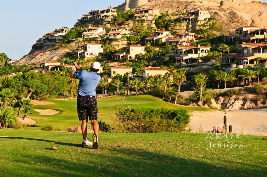 Golfer driving off tee  Palmilla Golf Course  San Jose del Cabo     Golfer driving off tee  Palmilla Golf Course  San Jose del Cabo  Baja  California