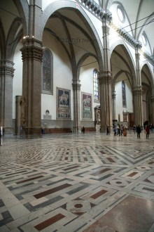 Florence cathedral interior  nave and northern aisle   JLD Tifft Images The duomo interior is large and quite bare  Again the pietra serena with  white walls