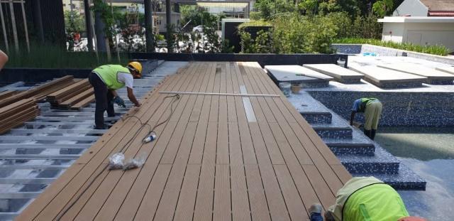 Sàn gỗ ngoài trời mang đến vẻ đẹp hiện đại, sang trọng cho các công trình ngoại thất