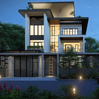 Biệt thự hiện đại đẹp với lối kiến trúc chữ U để lấy ánh sáng