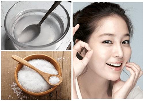 Hỗn hợp giấm và muối cũng được ưa chuộng sử dụng để trị chân răng bị đen
