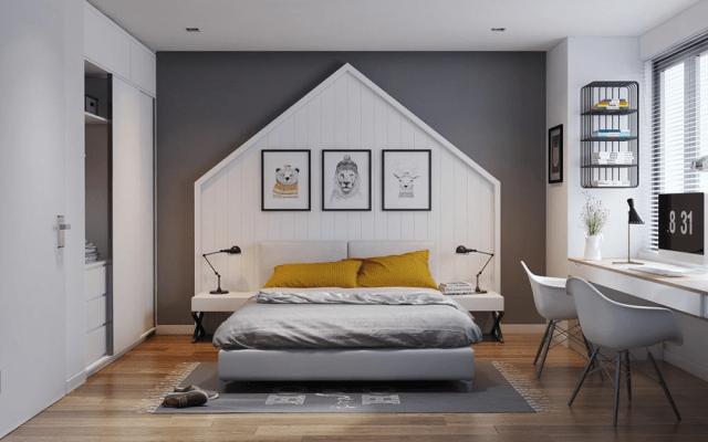 Phòng ngủ đơn giản với đầy đủ tiện nghi cần thiết nhất cho sinh hoạt
