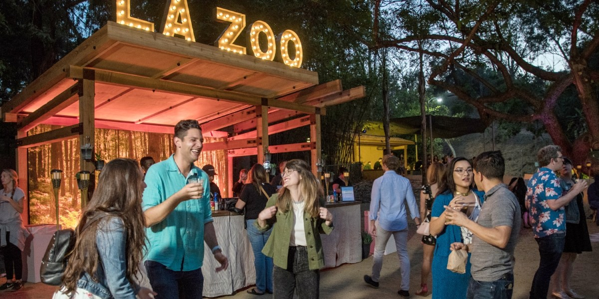 Image result for los angeles zoo roaring nights