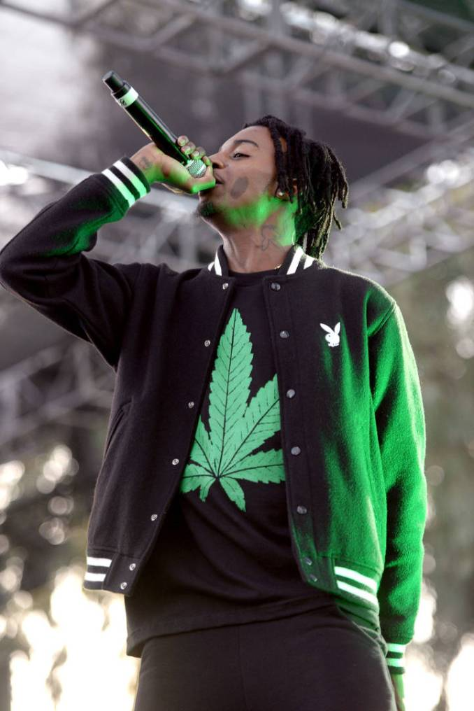 Rapper Playboi Carti performs onstage at the Smokers Club 420 event at The Observatory on April 20, 2017 in Santa Ana, California.