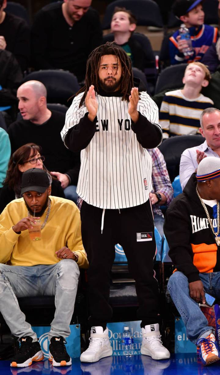 j. cole at basketball game