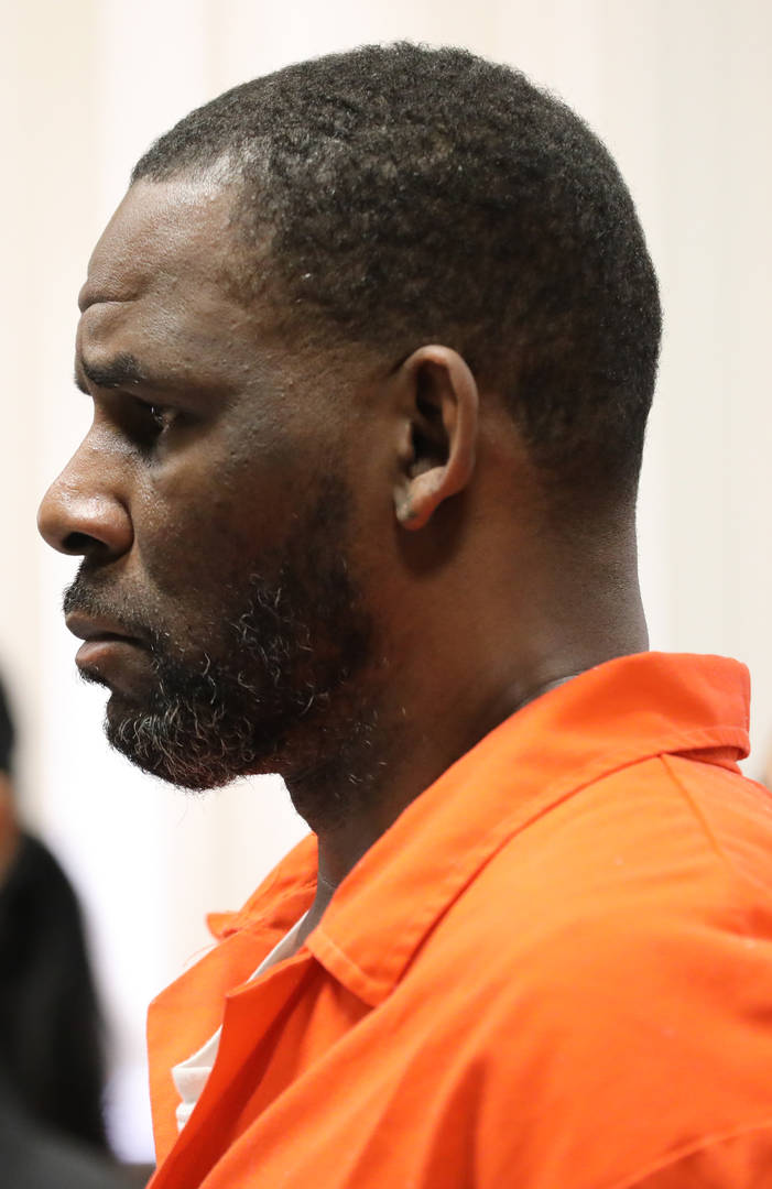 Singer R. Kelly appears during a hearing at the Leighton Criminal Courthouse on September 17, 2019 in Chicago, Illinois. Kelly is facing multiple sexual assault charges and is being held without bail.
