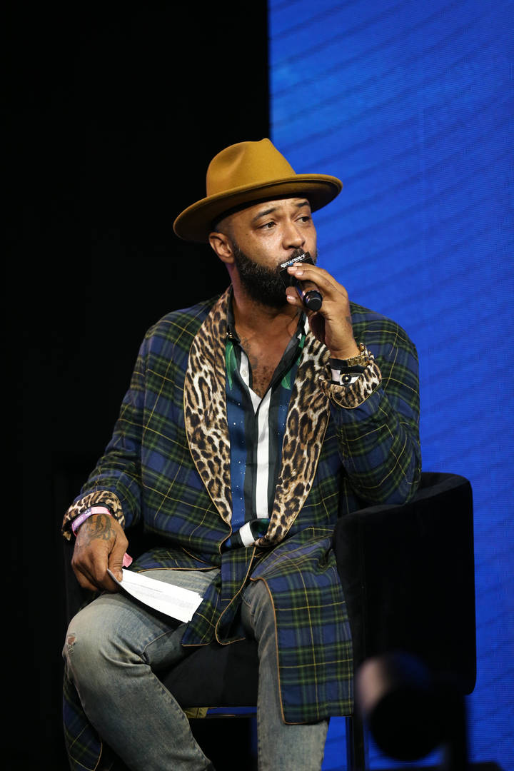 Joe Budden speaks onstage at the REVOLT X AT&T 3-Day Summit In Los Angeles - Day 1 at Magic Box on October 25, 2019 in Los Angeles, California.