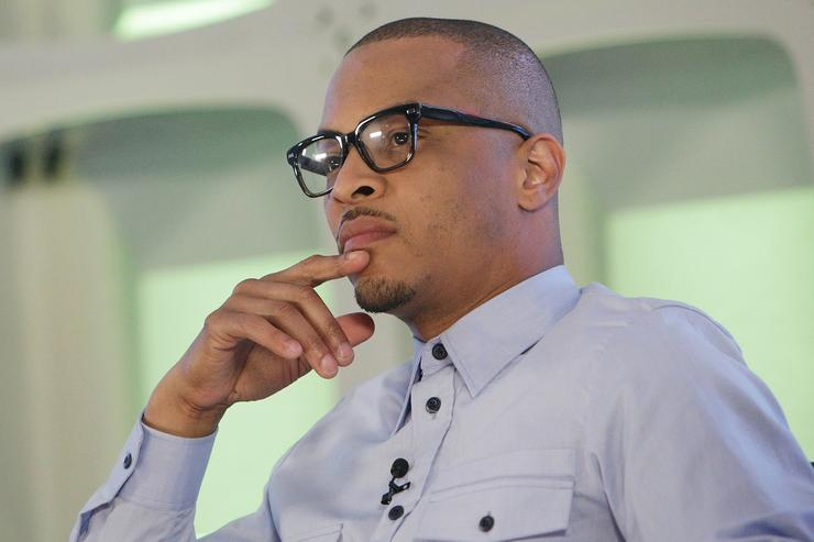 Musician T.I. attends the BET Music Presents: Us Or Else panel discussion at the Viacom White Box Hall on April 6, 2017 in New York City.