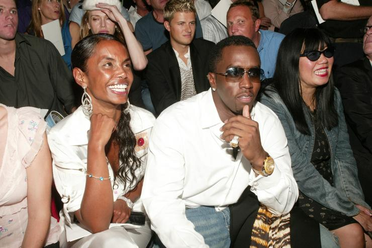 1252bfb3f1e Sean  P. Diddy  Combs and girlfriend Kim Porter attend the Marc Jacobs  Spring