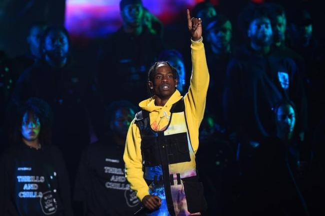 Travis Scott performs onstage during the 2018 MTV Video Music Awards at Radio City Music Hall on August 20, 2018 in New York City.