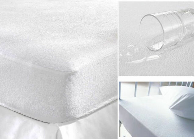 Waterproof Terry Towelling Mattress Protector Ed Cotton Soft Cover Topper
