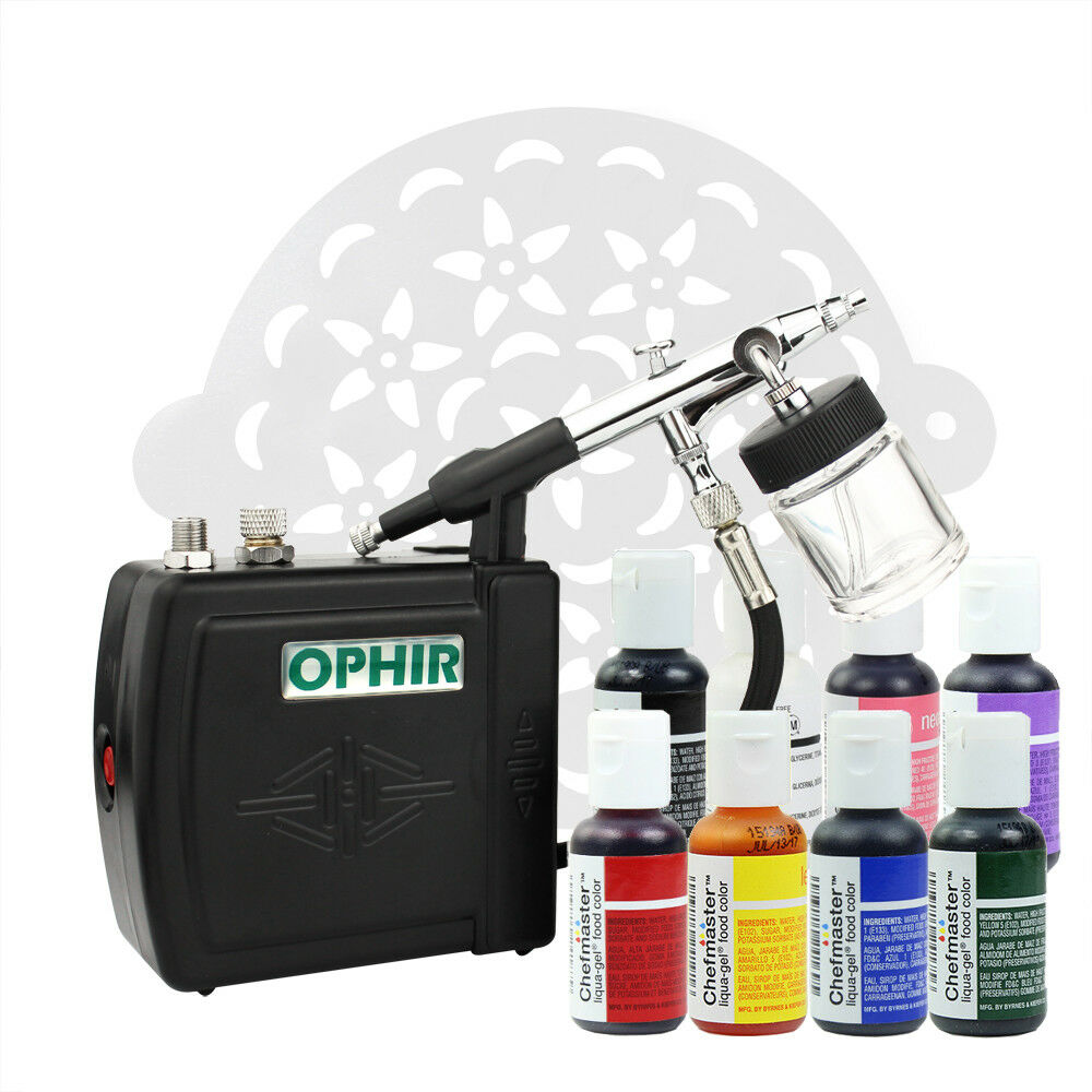 Ophir Complete Cake Decorating Airbrush Kit 8x 0 75oz Edible Pigment     Picture 13 of 13