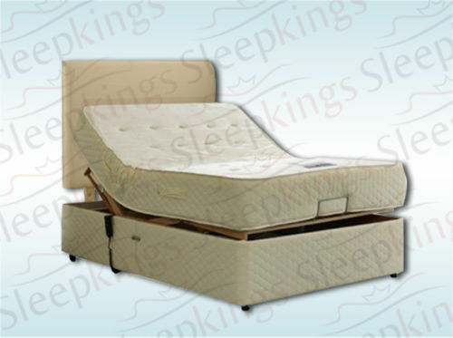 4ft Small Double Adjule Electric Bed With Memory Foam Mattress And Headboard