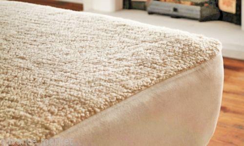 Luxury Thermal Underblanket Mattress Protector Fleece Faux Sheepskin Blanket