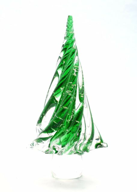Large 12 Hand Blown Glass Murano Art Style Christmas Tree