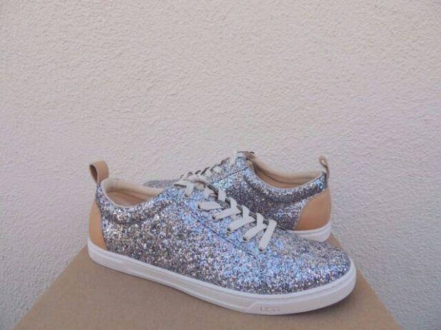 Silver+Glitter+Tennis+Shoes