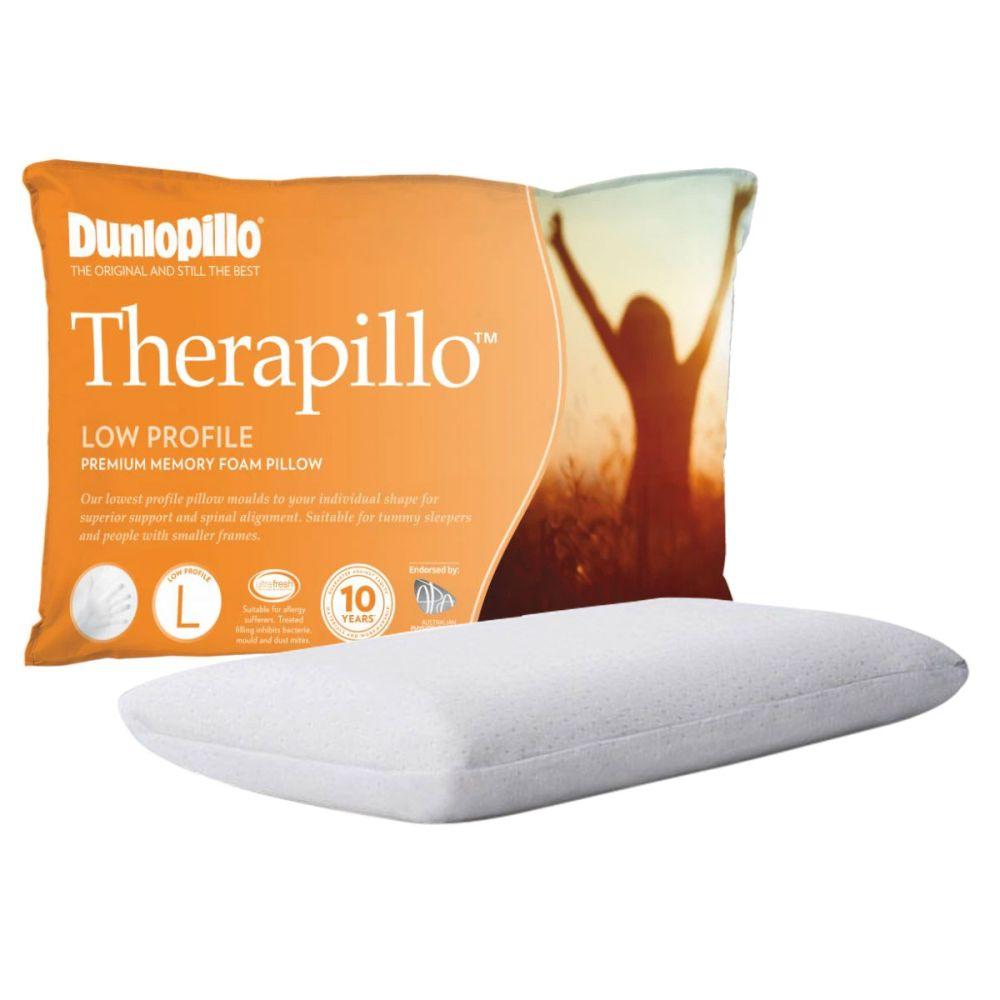 dunlopillo therapillo premium memory foam pillow low profile