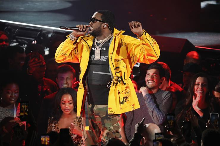 Meek Mill performs during the 68th NBA All-Star Game
