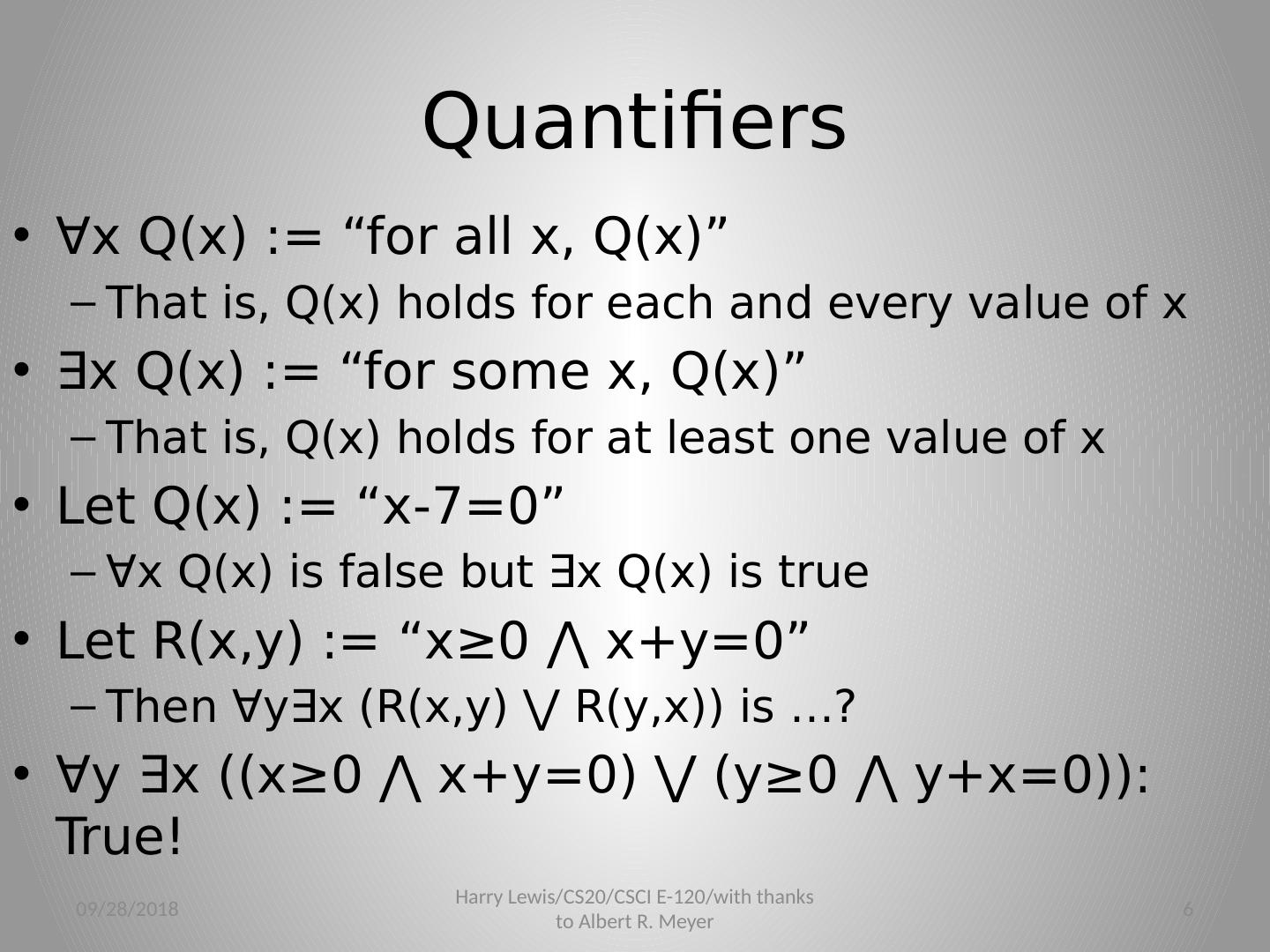 Logic With Quantifiers