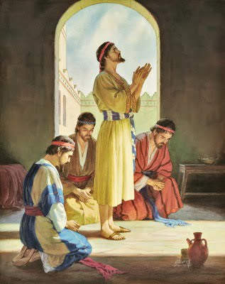 Daniel and Friends Praying