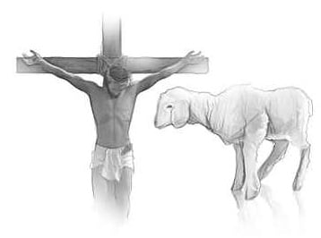Jesus on Cross and Lamb