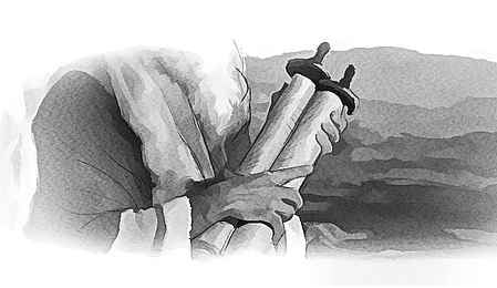 Moses Holding Scroll