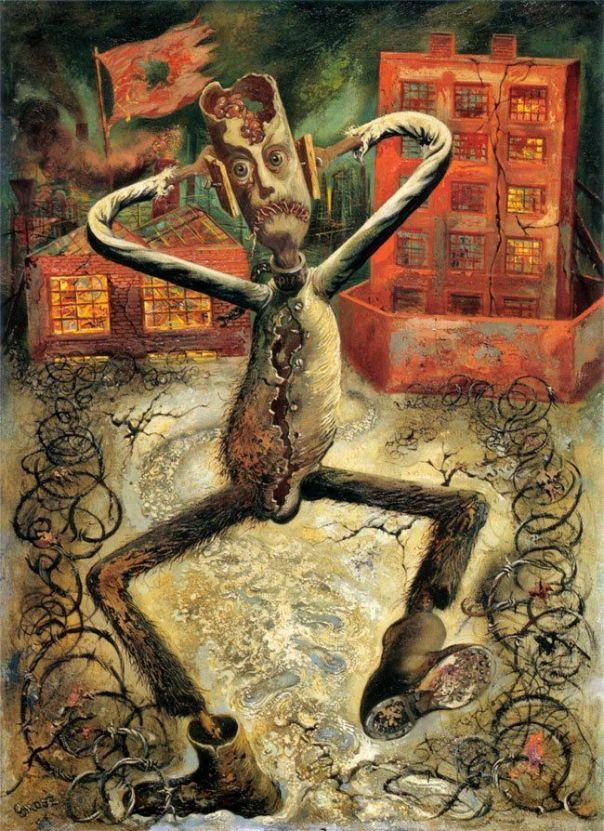 El hombre gris bailando 1949 George Grosz