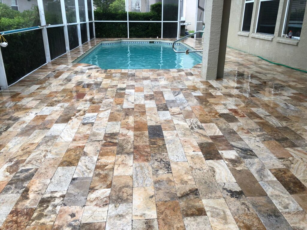 how to clean travertine pavers s s pavers