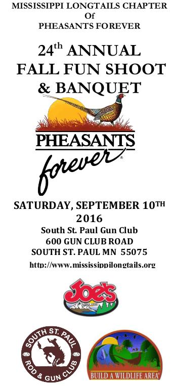 Pheasants Forever 2016 Shoot Web Flyer