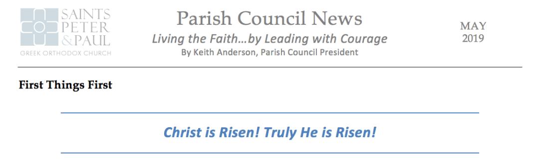 SSPP Parish Council News