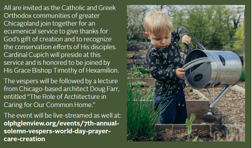Solemn Vespers for the World Day of Prayer for the Care of Creation 2021