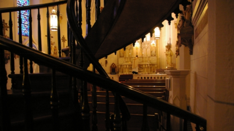 St Joseph S Miraculous Staircase District Of The Usa   Loretto Chapel Staircase Wood   Free Standing   St Joseph   Nm Church Santa Fe   Light   Sister