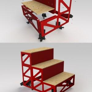 Mobile Steps parts displayed