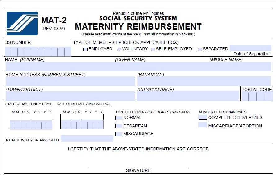 Sss Maternity Benefit Claim For Miscarriage Workingpinoycom